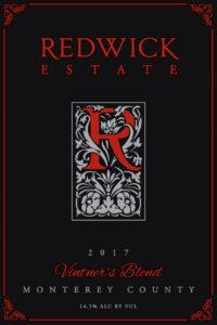 Redwick Estate 2017 Red Blend Label
