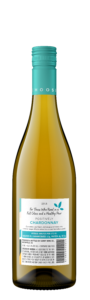 Sunny with a Chance of Flowers 2018 Chardonnay Bottle Shot Back – transp