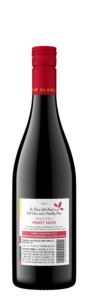 Sunny with a Chance of Flowers 2018 Pinot Noir Bottle Shot Back – transp
