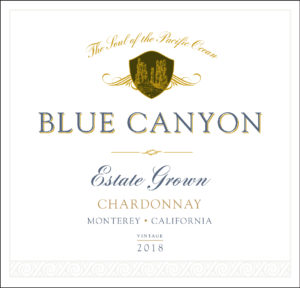 Blue Canyon 2018 Chardonnay Front Label