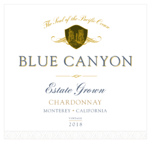 Blue Canyon 2018 Chardonnay Front Label – transp