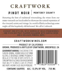 Craftwork 2018 Pinot Noir Back Label – transp