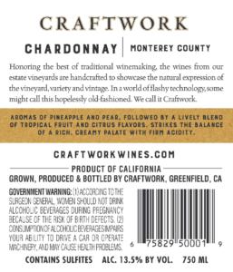 Craftwork 2019 Chardonnay Back Label – transp