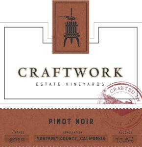 Craftwork 2018 Pinot Noir Front Label
