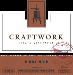 Craftwork 2018 Pinot Noir Front Label – transp