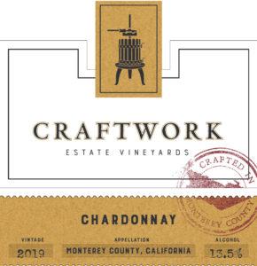 Craftwork 2019 Chardonnay Front Label