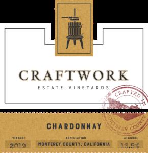Craftwork 2019 Chardonnay Front Label – transp
