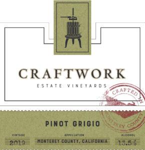 Craftwork 2019 Pinot Grigio Front Label