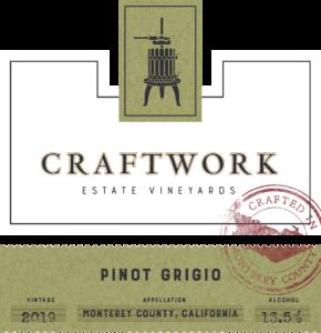 Craftwork 2019 Pinot Grigio Front Label – transp