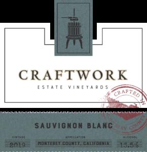 Craftwork 2019 Sauvignon Blanc Front Label – transp