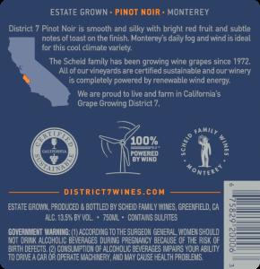District 7 NV Pinot Noir Back Label – transp