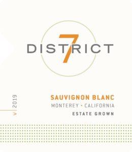District 7 2019 Sauvignon Blanc Front Label