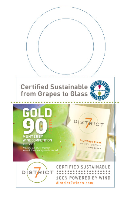 District 7 Necker NV Sauvignon Blanc Sustainability Awards Print File