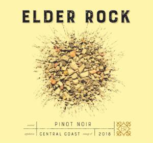 Elder Rock 2018 Pinot Noir Label – transp