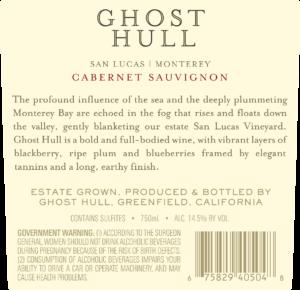 Ghost Hull 2018 Cabernet Sauvignon Back Label – transp