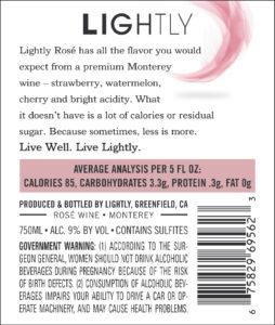 Lightly 2019 Rose Back Label – transp