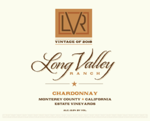 Long Valley Ranch 2018 Chardonnay Front Label – transp