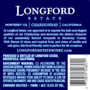 Longford Estate 2018 Chardonnay Back Label