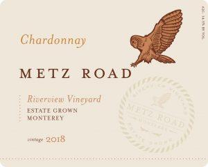 Metz Road 2018 Chardonnay Front Label