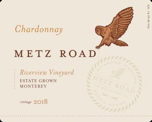 Metz Road 2018 Chardonnay Front Label – transp