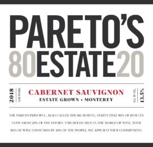 Pareto's Estate 2018 Cabernet Sauvignon Front Label – transp