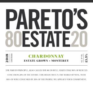 Pareto's Estate 2018 Chardonnay Front Label – transp