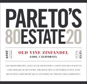 Pareto's Estate 2019 Zinfandel Front Label