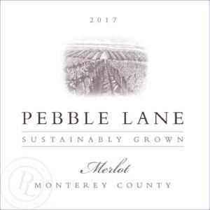 Pebble Lane 2017 Merlot Front Label – transp
