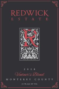Redwick Estate 2018 Red Blend Front Label