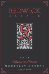 Redwick Estate 2018 Red Blend Front Label – transp