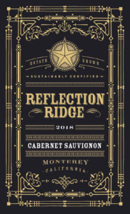 Reflection Ridge 2018 Cabernet Sauvignon Label