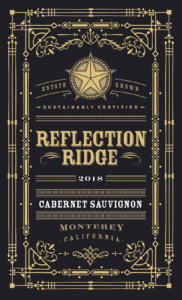 Reflection Ridge 2018 Cabernet Sauvignon Label – transp