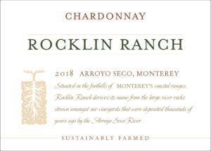 Rocklin Ranch 2018 Chardonnay Front Label