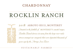 Rocklin Ranch 2018 Chardonnay Front Label – transp