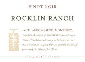 Rocklin Ranch 2018 Pinot Noir Front Label