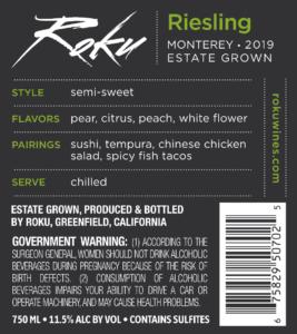 Roku 2019 Riesling Back Label – transp