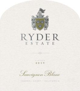 Ryder Estate 2019 Sauvignon Blanc Front Label