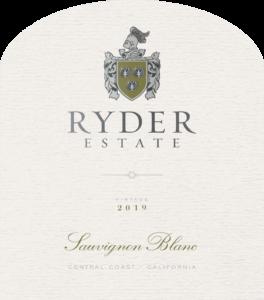 Ryder Estate 2019 Sauvignon Blanc Front Label – transp