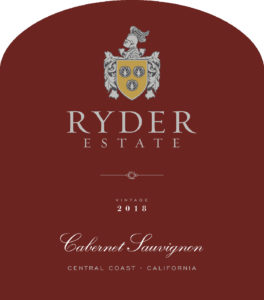 Ryder Estate 2018 Cabernet Sauvignon Front Label