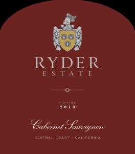 Ryder Estate 2018 Cabernet Sauvignon Front Label – transp