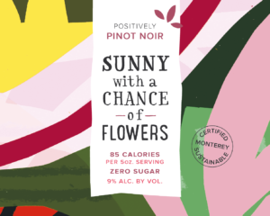 Sunny 2019 Pinot Noir Front Label – transp