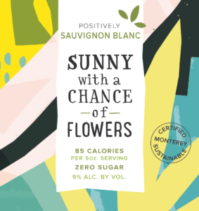 Sunny 2019 Sauvignon Blanc Front Label – transp