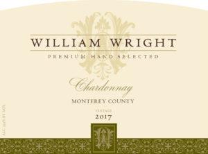 William Wright 2017 Chardonnay Front Label