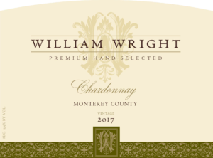 William Wright 2017 Chardonnay Front Label – transp