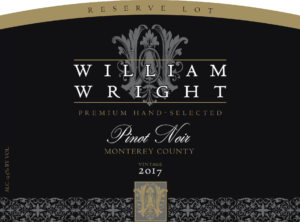 William Wright 2017 Reserve Pinot Noir – transp