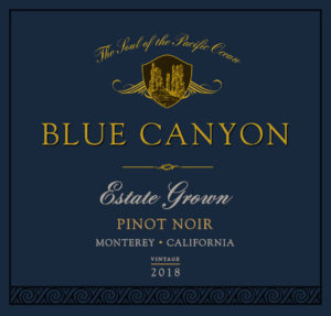 Blue Canyon 2018 Pinot Noir Front Label
