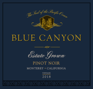 Blue Canyon 2018 Pinot Noir Front Label – transp