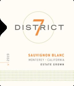 District 7 2019 Sauvignon Blanc Front Label – transp