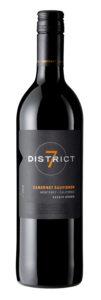 District 7 2018 Cabernet Sauvignon Bottle Shot