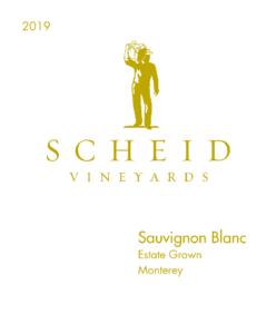 Scheid Vineyards 2019 Sauvignon Blanc Front Label – transp